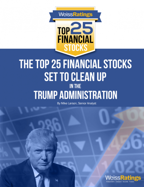 The Top 25 Financial Stocks Set to Clean Up in the Trump Administration